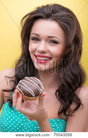 woman with sweets