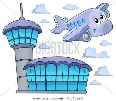 Image with airplane theme 6 - eps10 vector illustration.