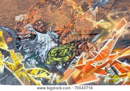 Street art Montreal soldier