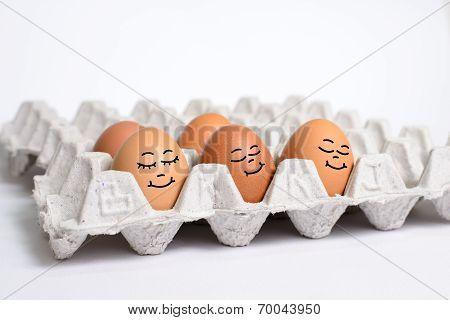 Egg sleep on egg s panel