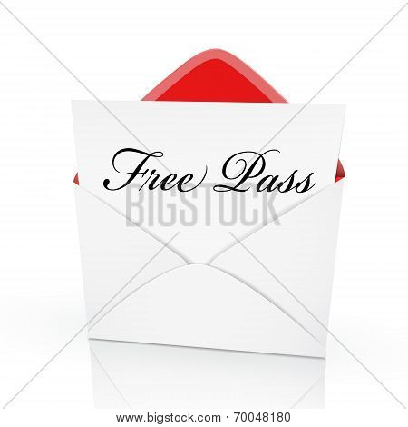 The Words Free Pass On A Card