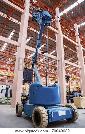 Lift buckets in factory