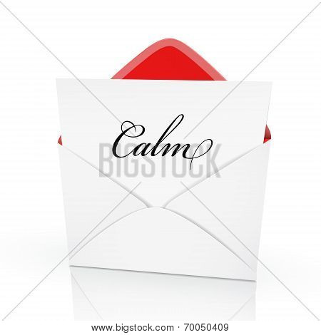 The Word Calm On A Card