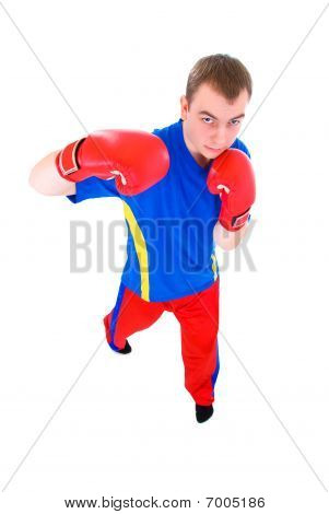 Men In Red Gloves  Boxing