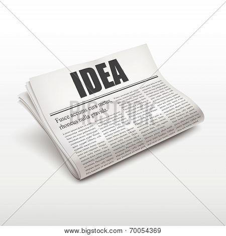 Idea Word On Newspaper