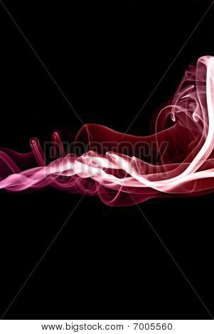 Colored Incense Smoke Abstract
