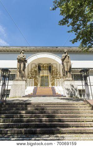 DARMSTADT, GERMANY - JUNE 6, 2012: Ernst Ludwig Haus at Kuenstler Kolonie artists colony in Darmstadt