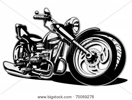 Vector Cartoon Motorbike