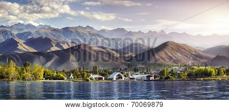 Issyk Kul Lake Panorama