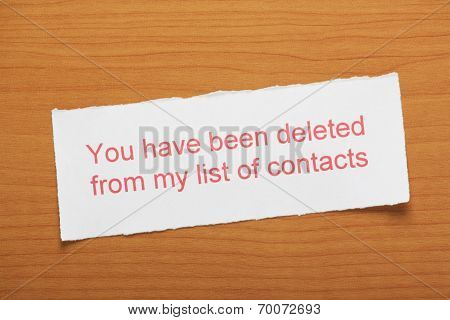 You have been deleted