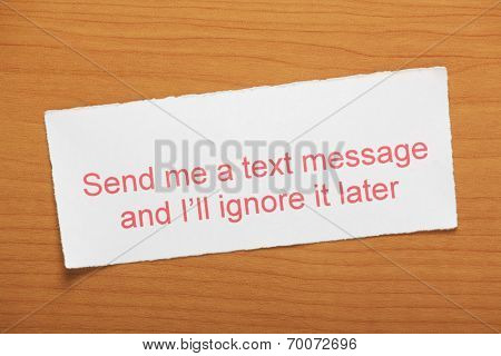 Dealing with text messages