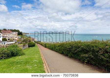Path to Shanklin seafront Isle of Wight England UK, popular tourist and holiday location