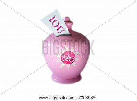 IOU baby savings bank