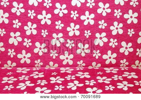 Pink Couch As Background