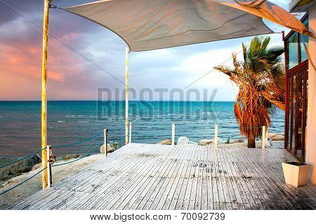 Empty Porch In Larnaca