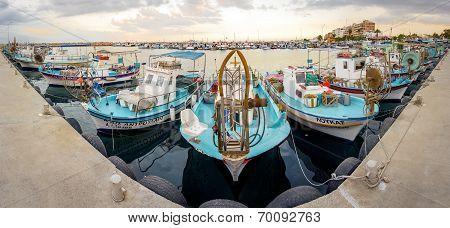 Fishing Boat Harbour In Larnaca