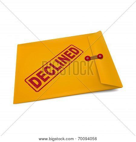 Declined Stamp On Manila Envelope