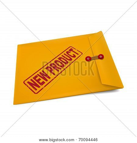New Product Stamp On Manila Envelope