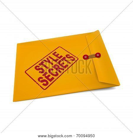 Style Secrets On Manila Envelope