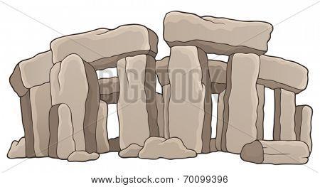 Ancient stone monument theme 1 - eps10 vector illustration.