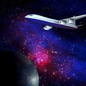 Galaxy airline for adv or others purpose use poster