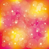 An abstract sparkling stars light on colorful background poster