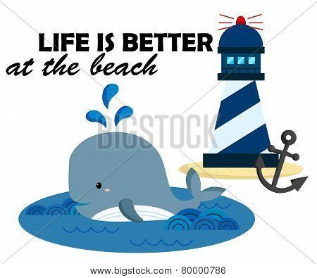 Beach And Whale