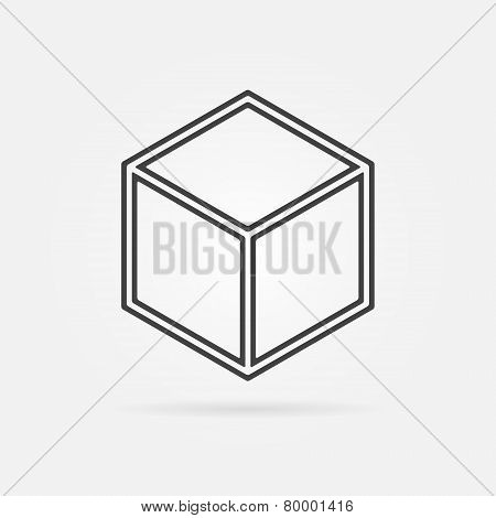 3D Print vector cube sign icon