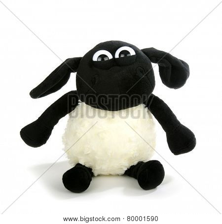 sheep toy isolated on a white background