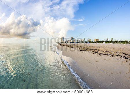 South Beach Skyline With Ocean