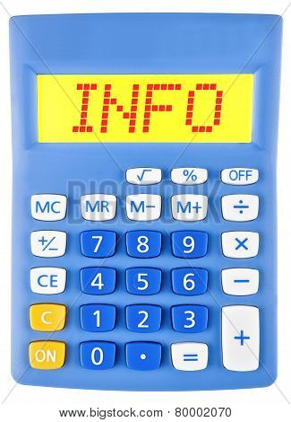 Calculator With Info