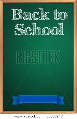Illustration of a sign saying back to school