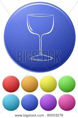 Illustration of different color icons with a wine glass