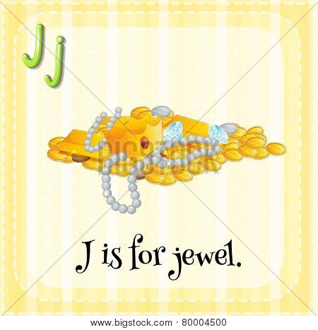 A letter J which stands for jewel