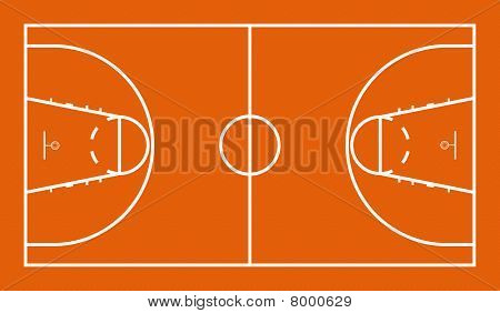 Bitmap Illustration of Official FIBA Basketball Court poster