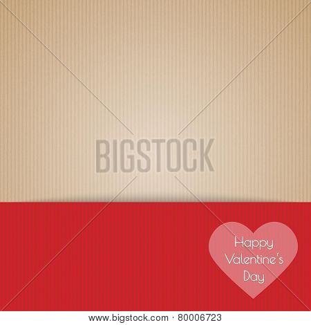 Brown Cardboard With Happy Valentine's Day