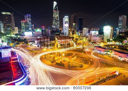 Ho Chi Minh City In Evening. Vietnam.
