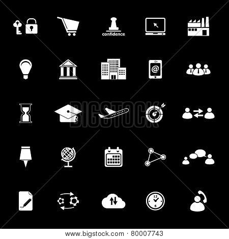 Business Connection Icons On Gray Background