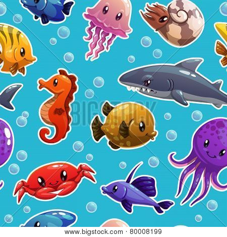 pattern with sea animals