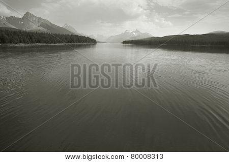 Canadian Landscape With Maligne Lake. Jasper. Alberta