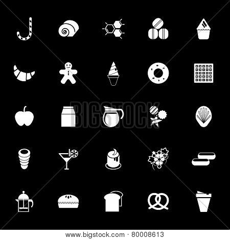 Sweet Food Icons On White Background