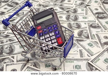 Shopping Cart With Calculator With Empty Display