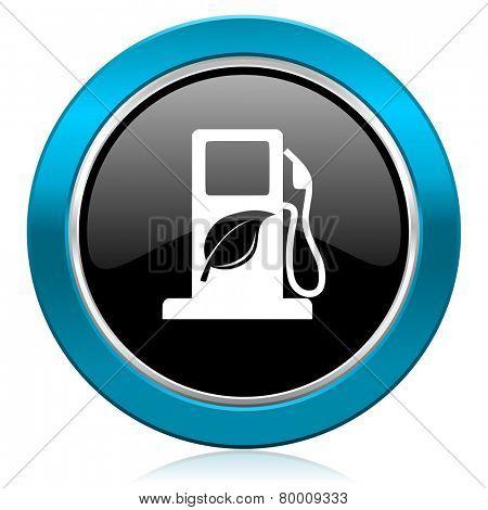 biofuel glossy icon bio fuel sign