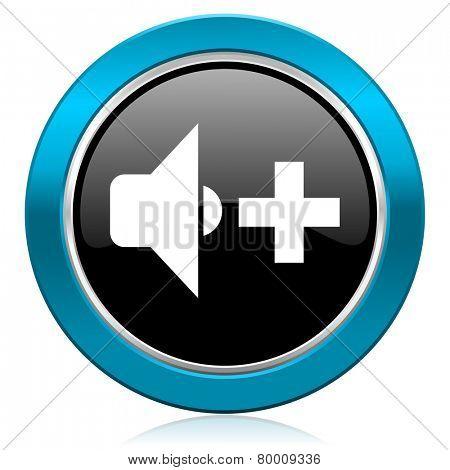 speaker volume glossy icon music sign
