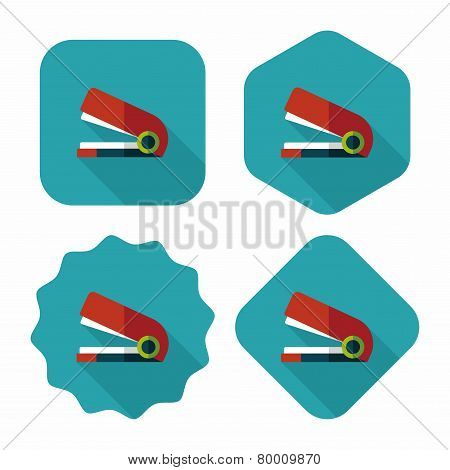 Stapler Flat Icon With Long Shadow,eps10