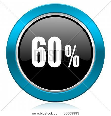 60 percent glossy icon sale sign
