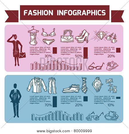 Fashion Infographics Set