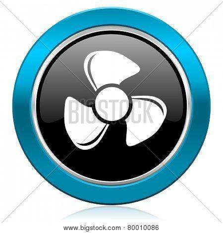 fan glossy icon