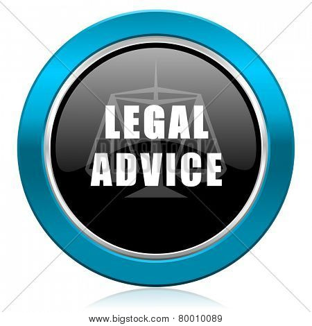 legal advice glossy icon law sign