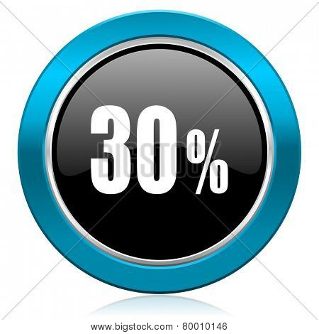 30 percent glossy icon sale sign